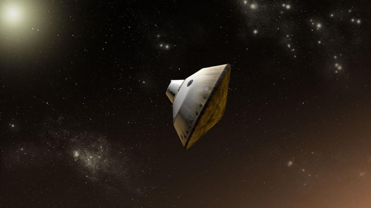 Inside Huge Mars Rovers Sky Crane Landing Infographic